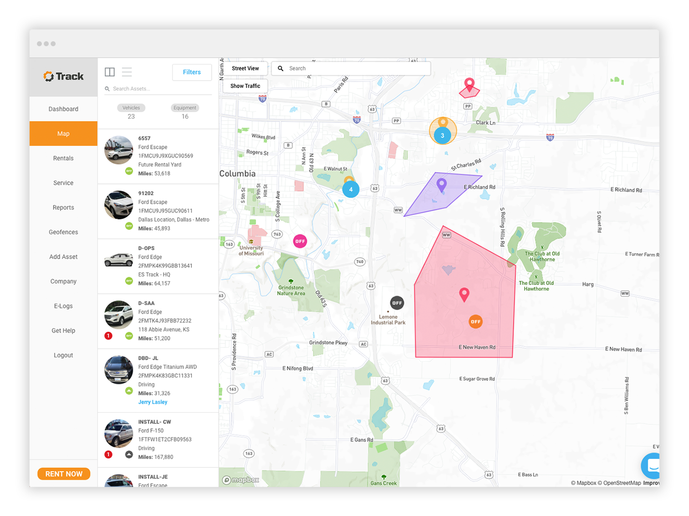 geofence dashboard