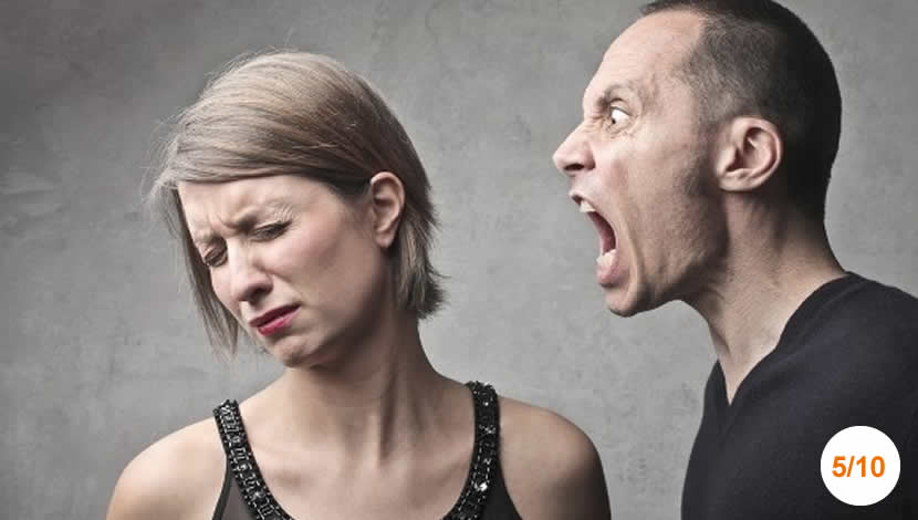 Cônjuge que pratica abuso verbal - Serie: Os 10 comportamentos que destroem os melhores casamentos