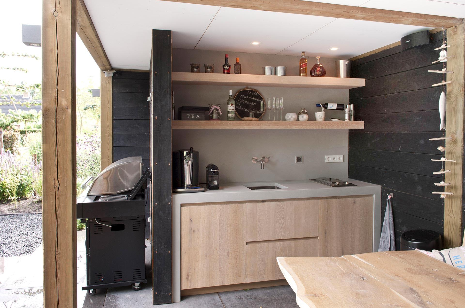 Keuken in detuin
