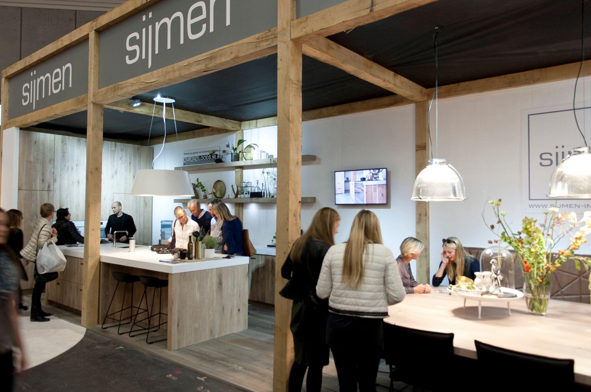 De stand van Sijmen Interieur op de VT Wonen en Design Beurs