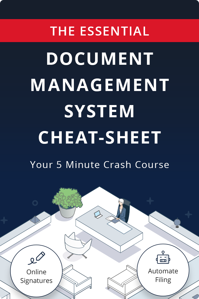 Your essential document management system cheat-sheet - ebook cover