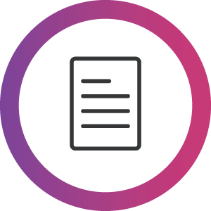Information on document icon