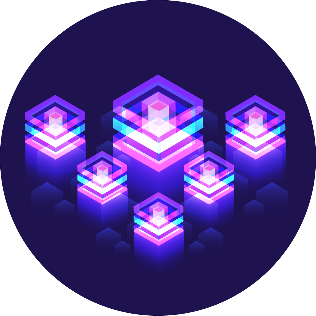 Purple Integration platforms, digital/virtual connections