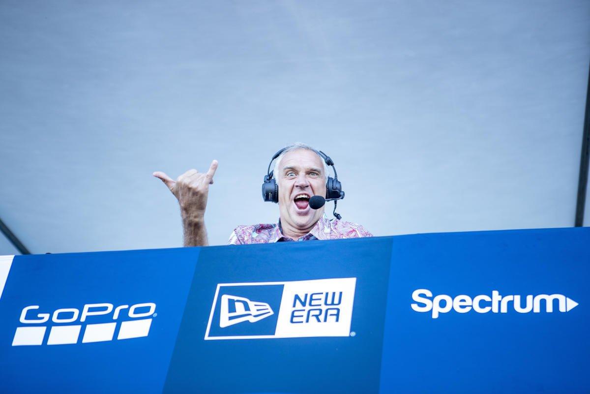 Having fun on the mic: Barton Lynch