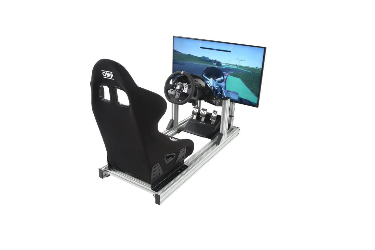 esports-simulator-single-stand-bucket-seat-logitech-g920-single-43-inch-4k-hd-screen