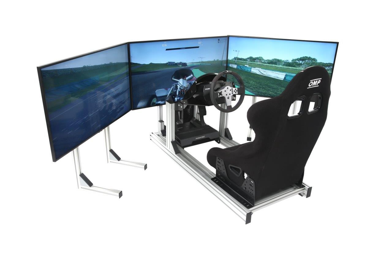 esports-simulator-triple-stands-bucket-seat-fanatec-csl-triple-43-inch-4k-hd-screens
