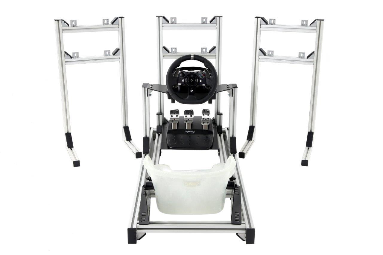 esports-simulator-triple-stands-kart-seat-logitech-g920