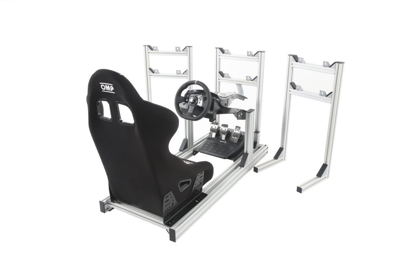 esports-simulator-triple-stands-bucket-seat-logitech-g920
