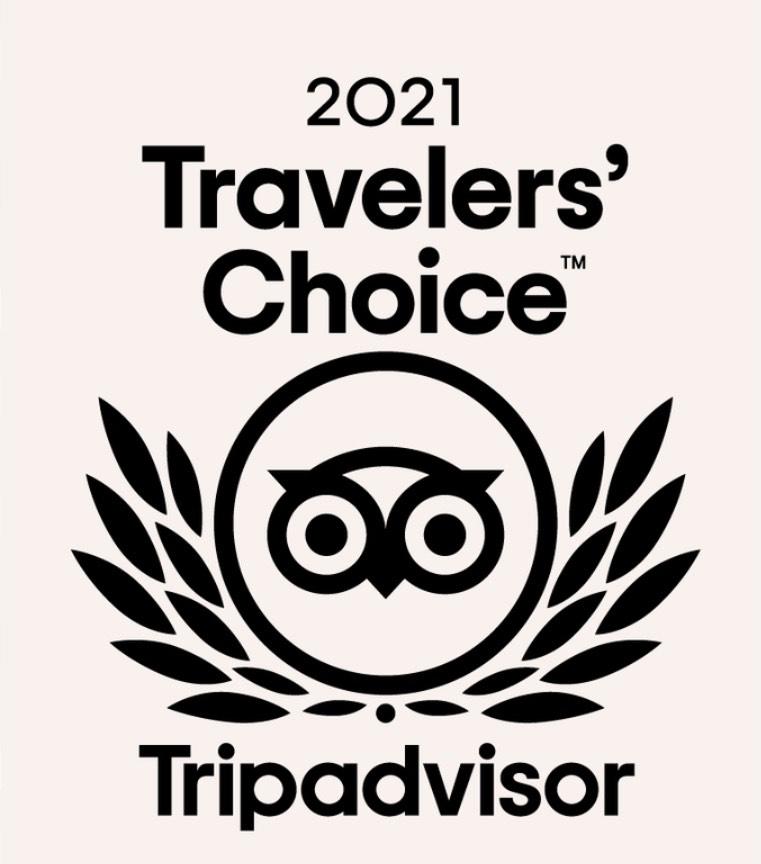 2021's Traveler's Choice Award from Tripadvisor