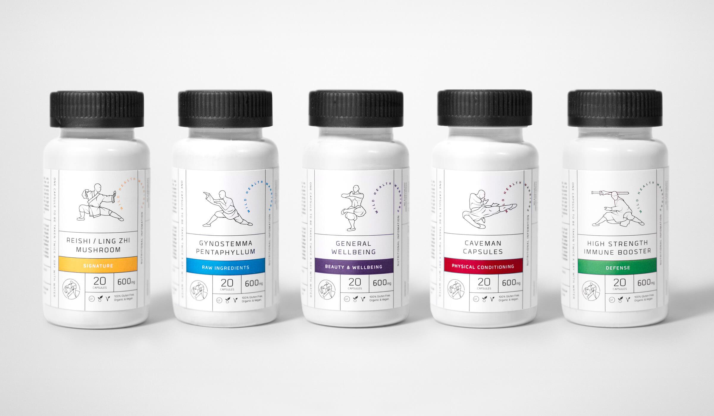 Health supplements bottle packaging design