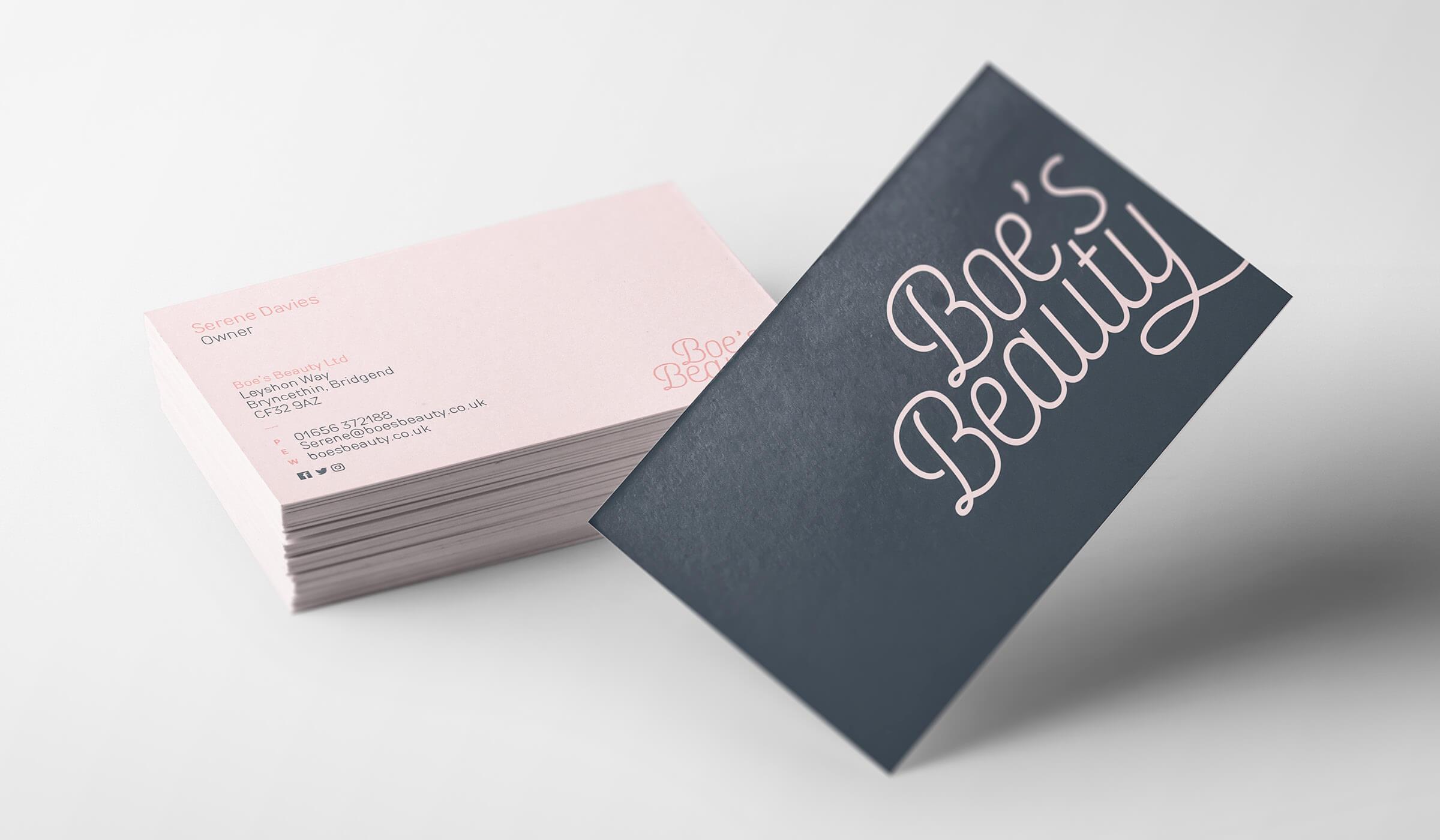 beauty salon business card design