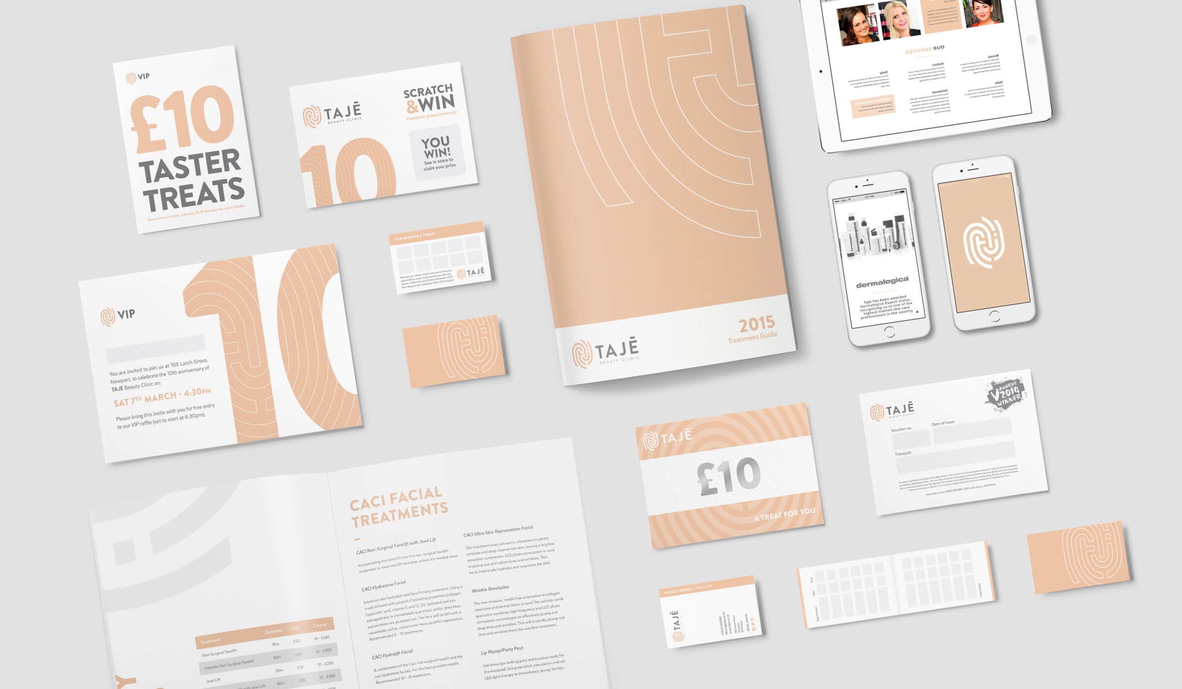 Beauty salon branding and graphic design