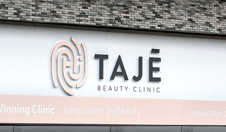 shop front signage design for beauty salon