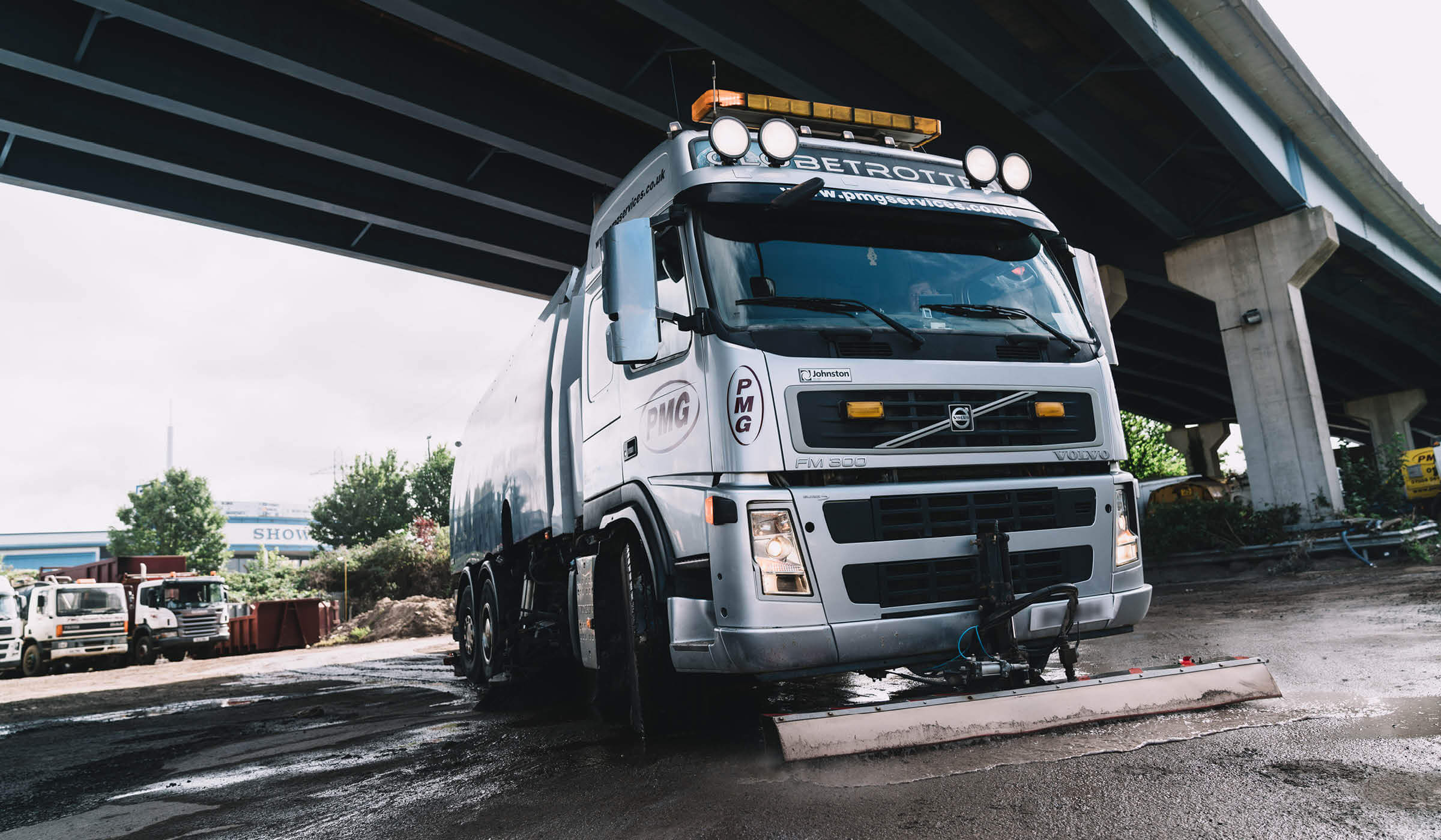 Photography case study for road sweepers and environmental service specialists PMG, based in Bristol
