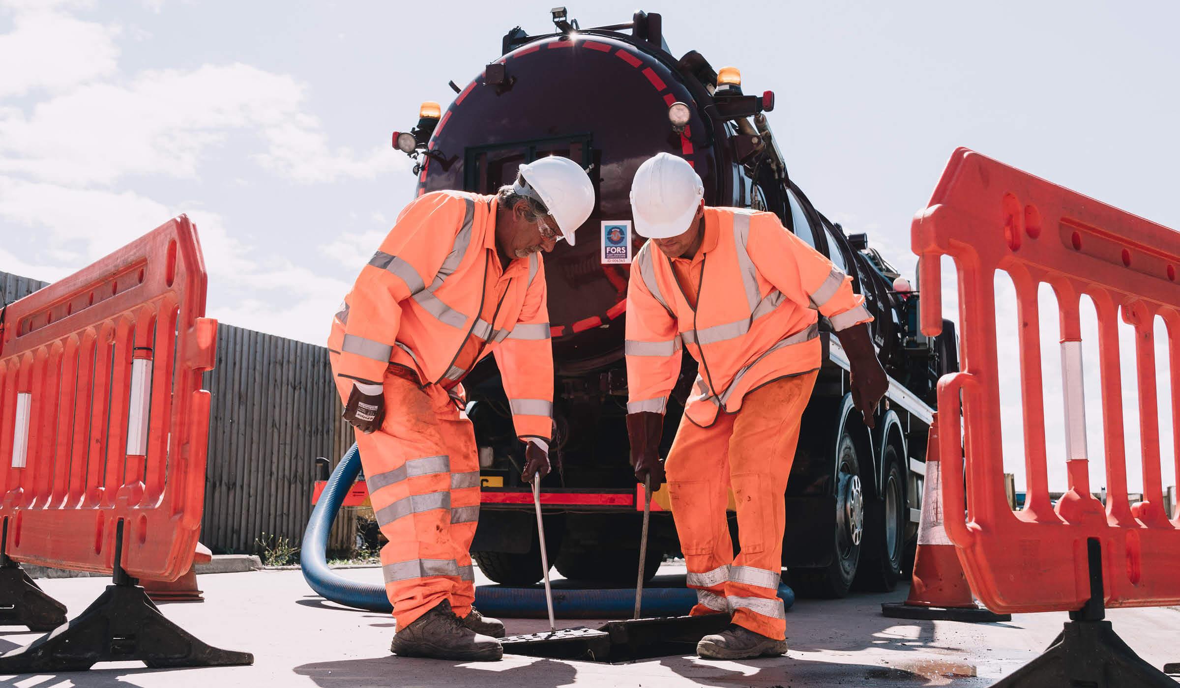 photograph of Bristol based environmental services vehicles