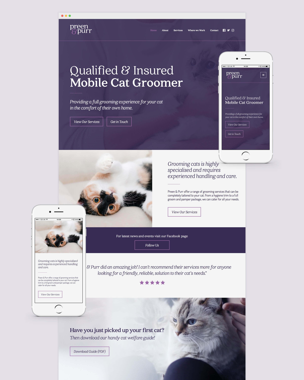 Responsive website for Bristol based cat groomer