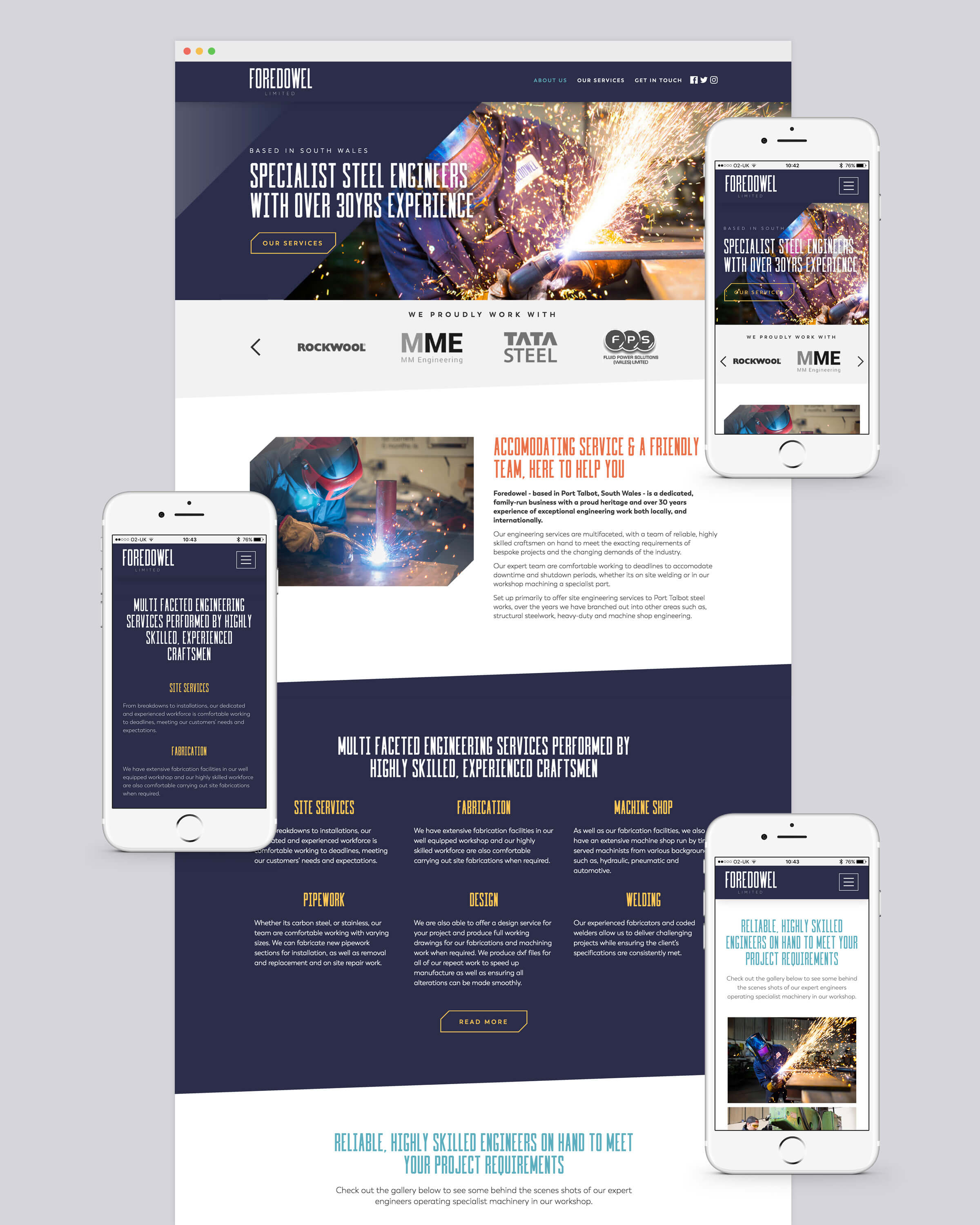 Website homepage design