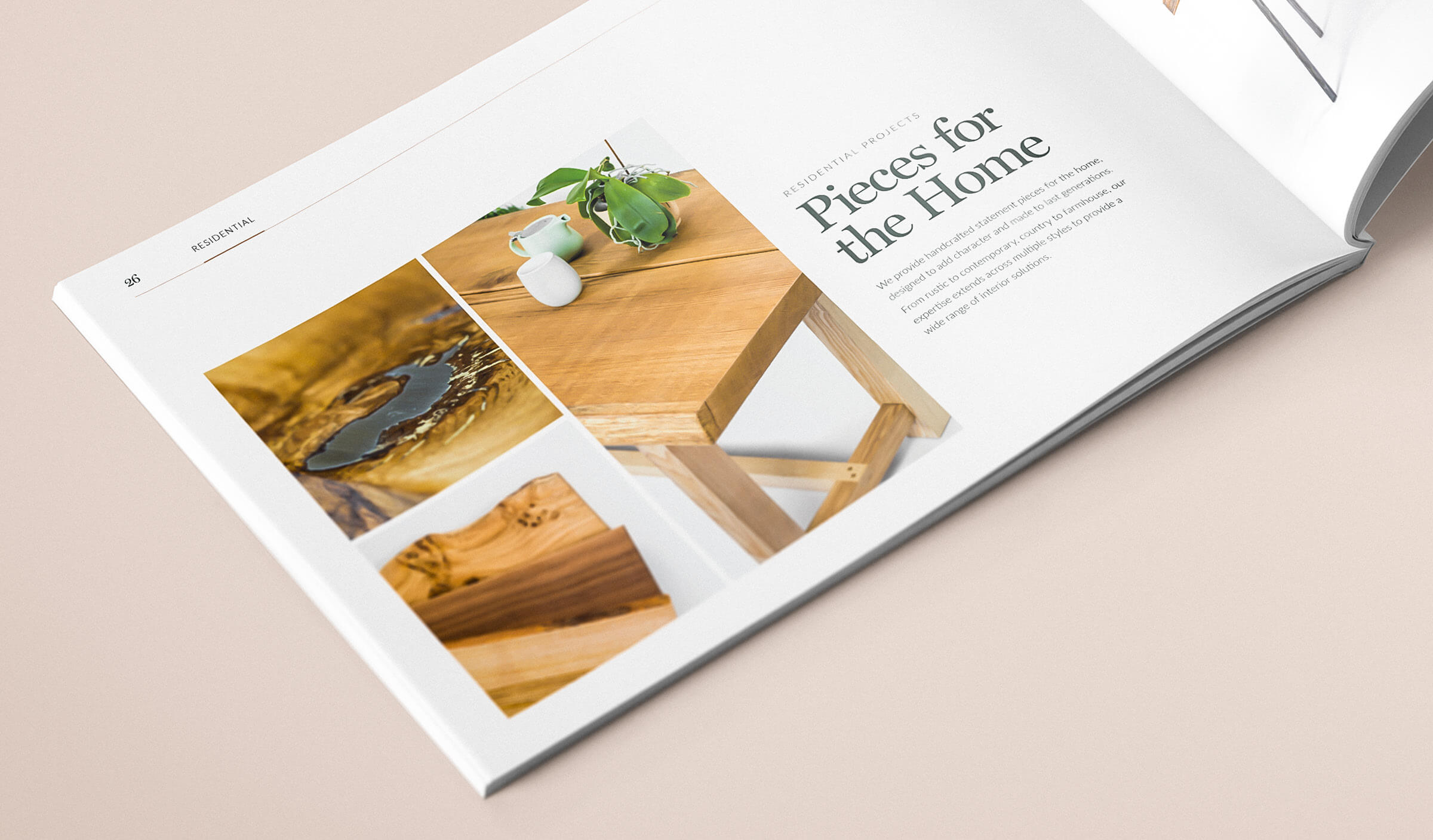 Furniture brochure design spread