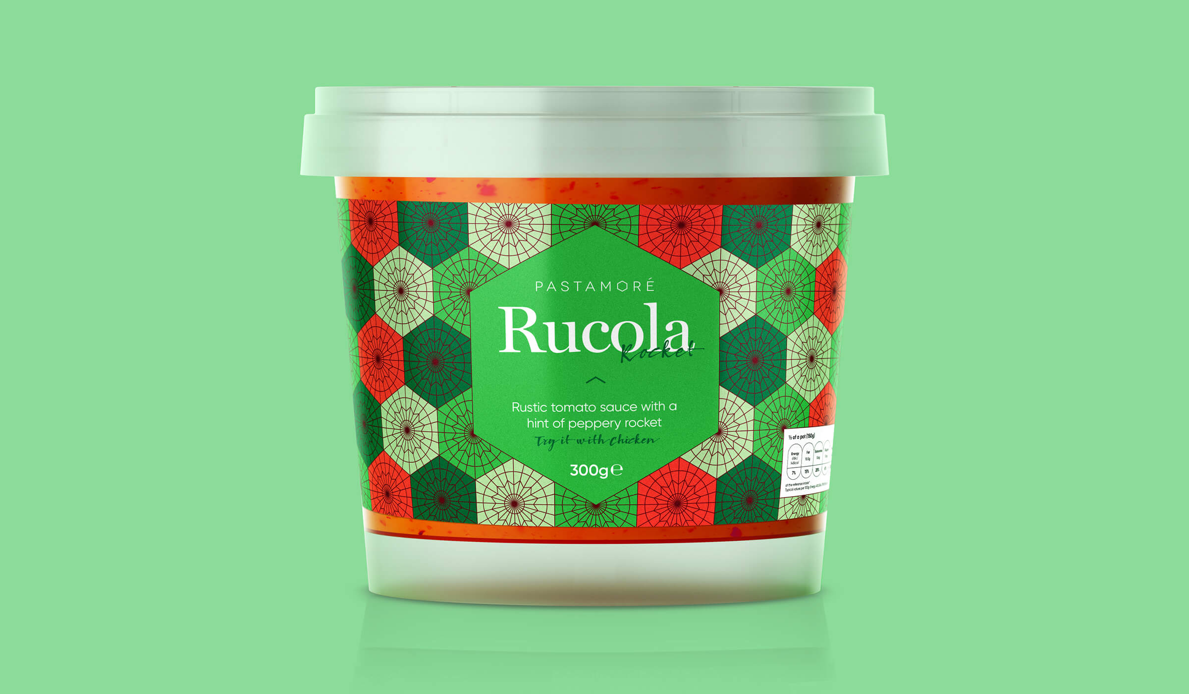 Pastamore Rucola packaging design