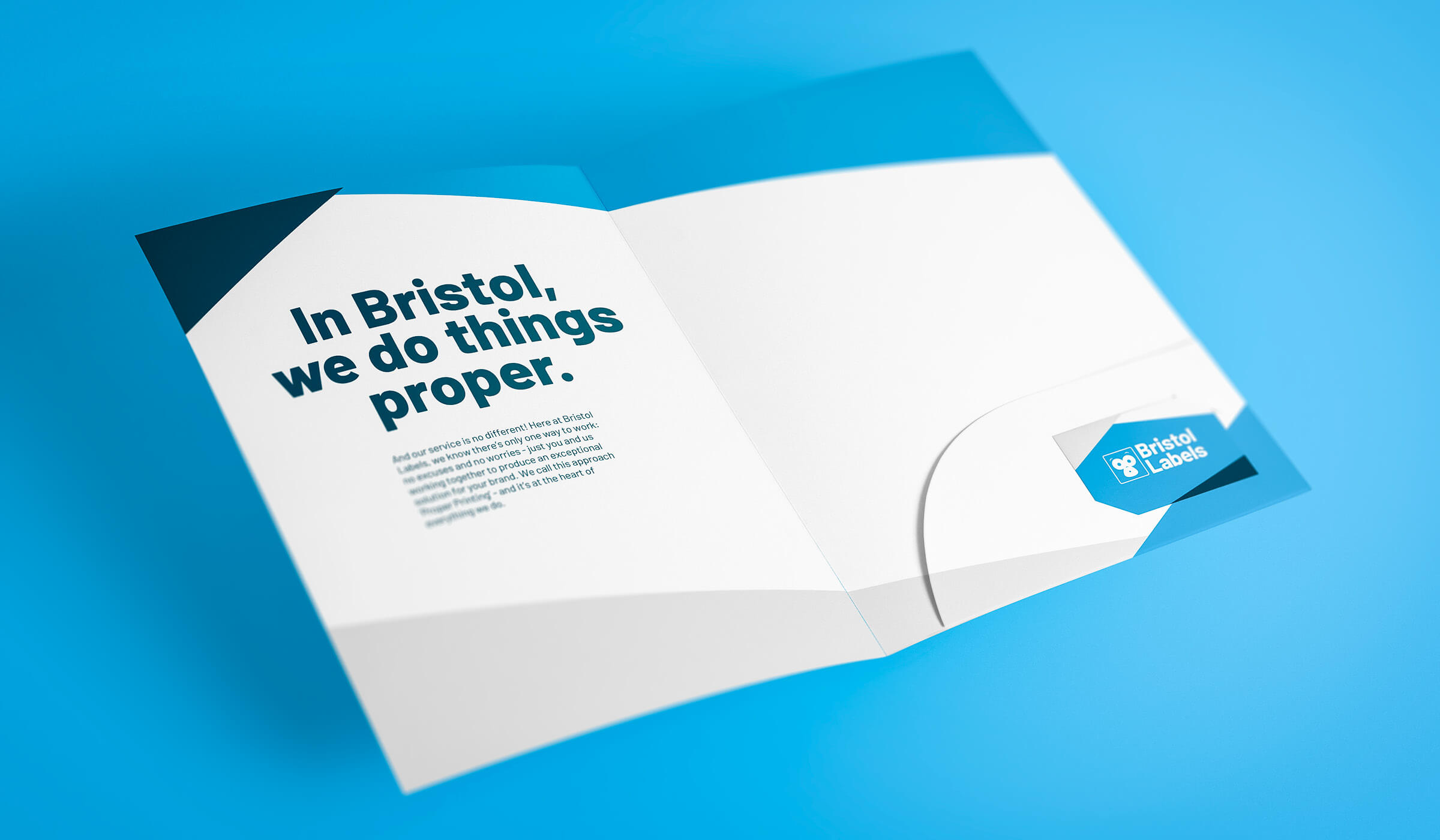 Bristol Labels presentation folder