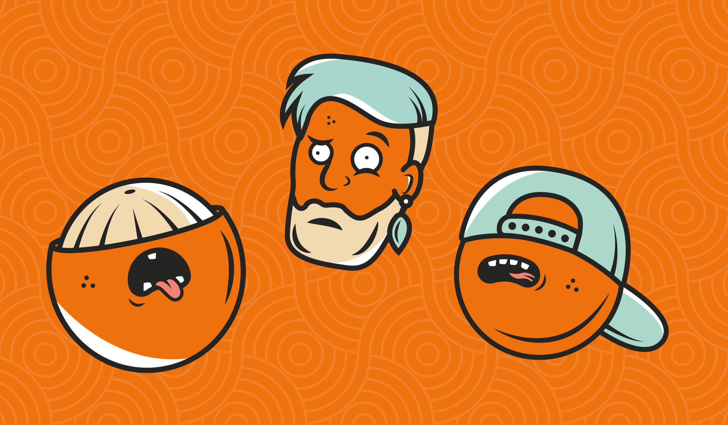 Mad Dog Marmalade IPA illustrations