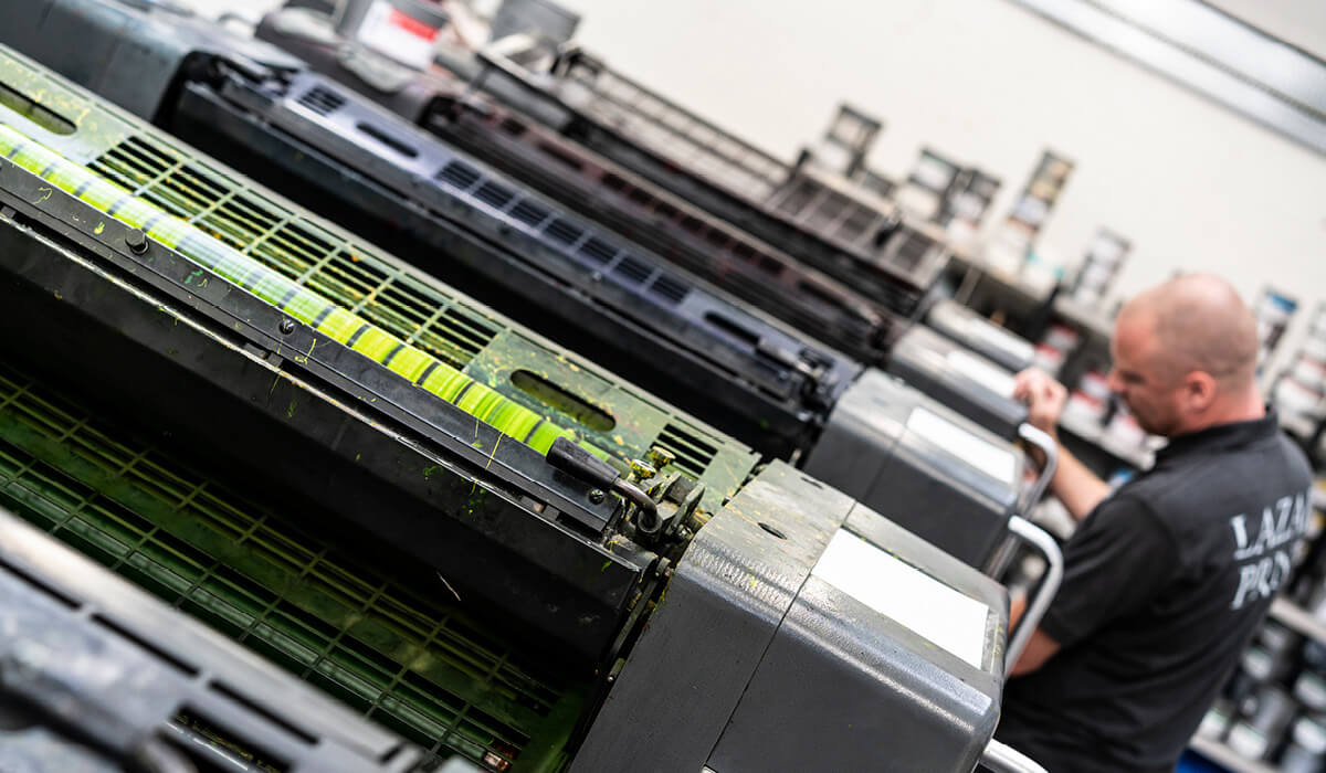 Photography of print machinery