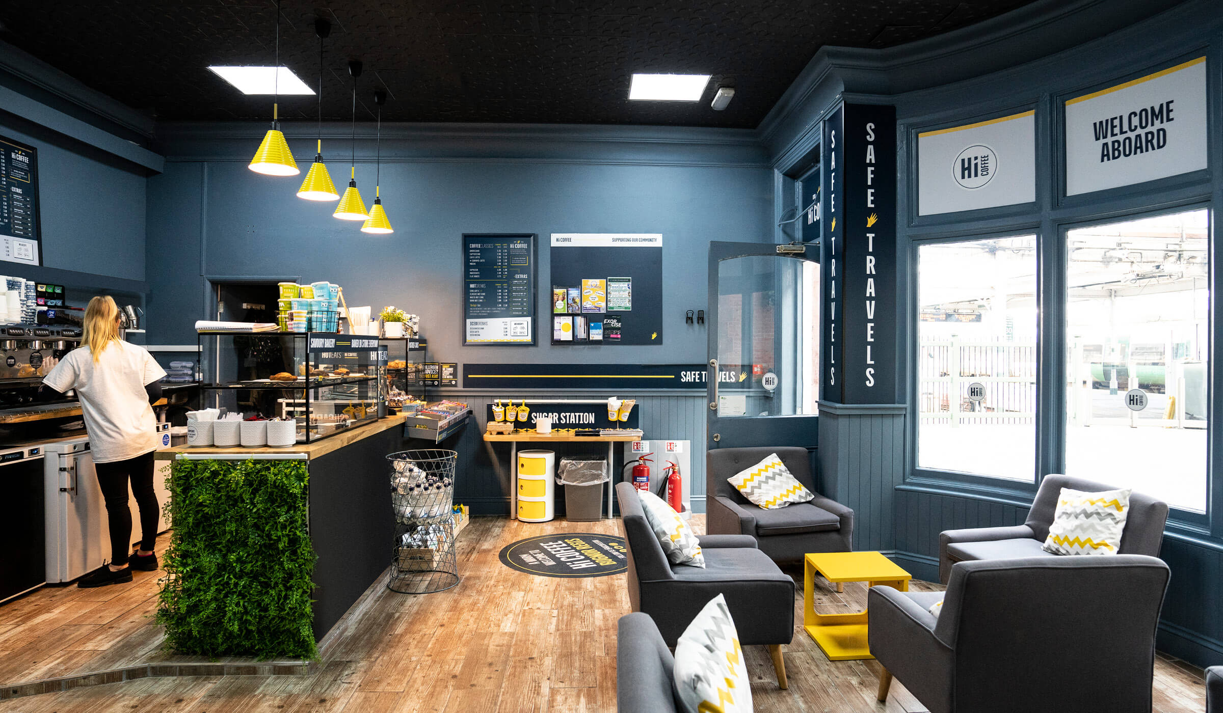 Hi Coffee Bognor Regis branded store interior