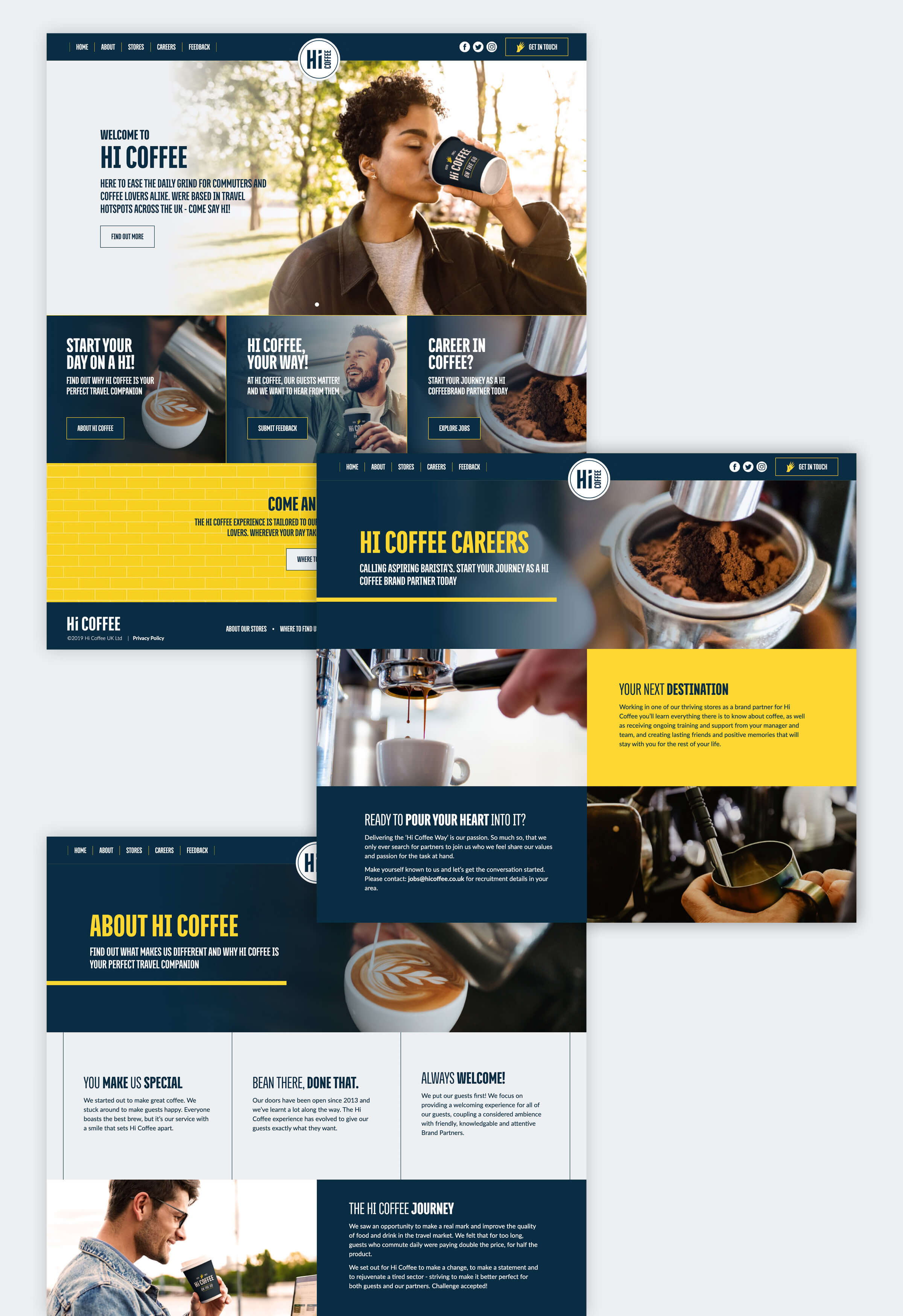 Hi Coffee website design