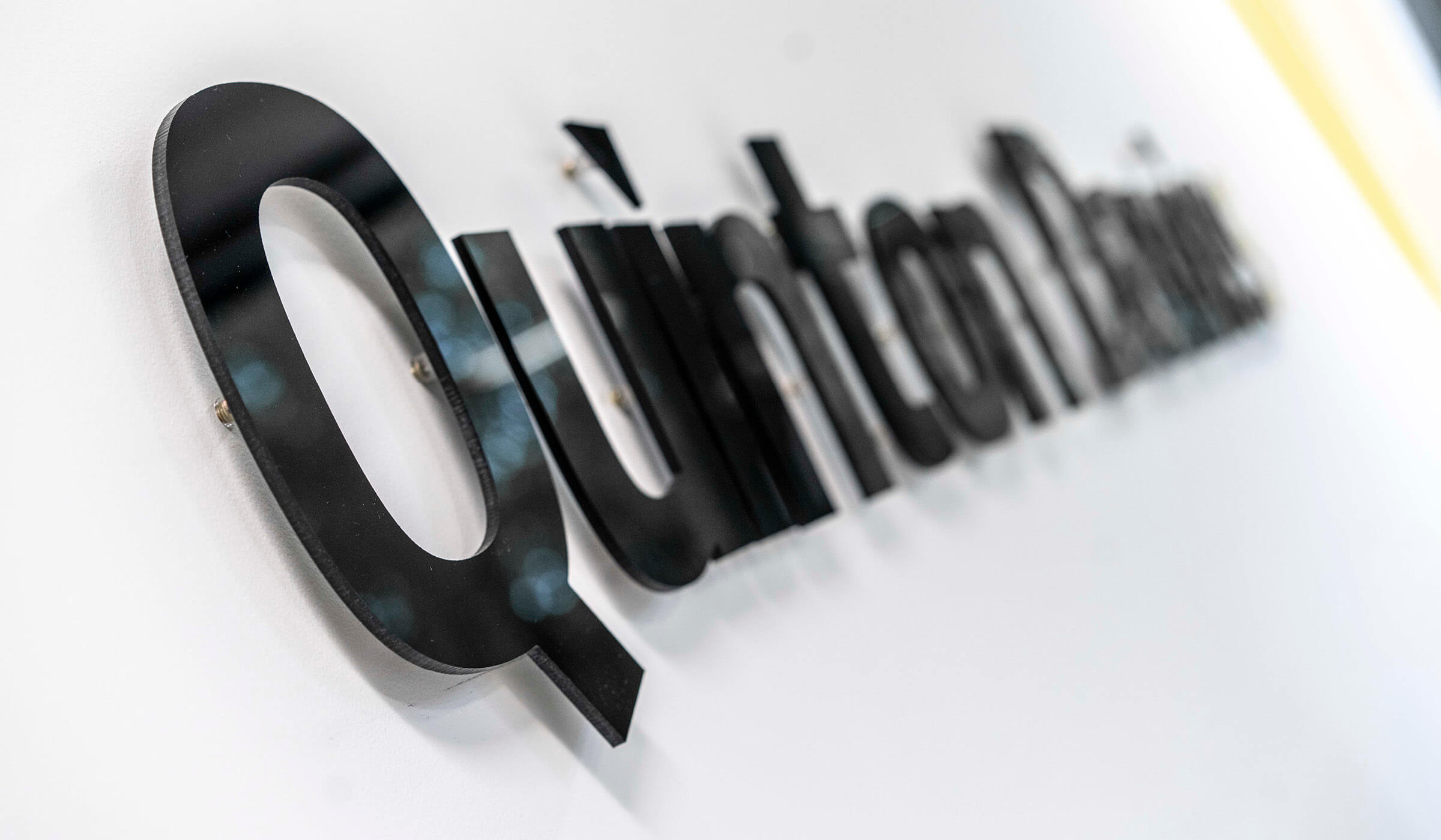 QD Branded office signage
