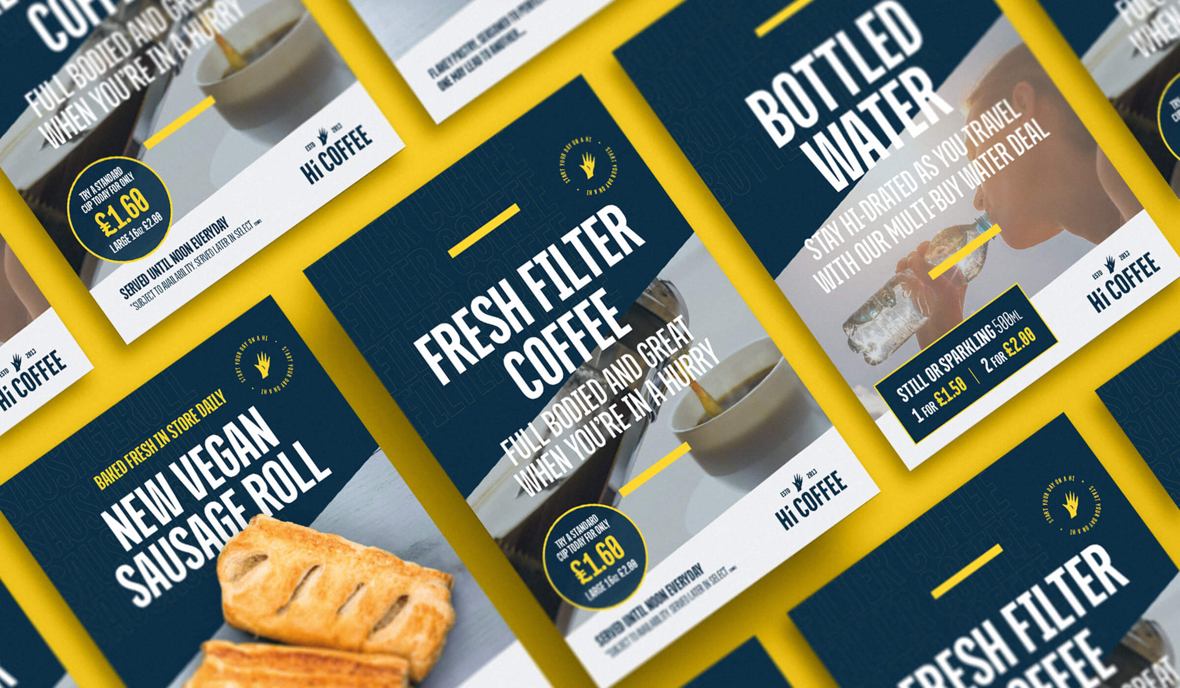 Poster design examples for coffee shop