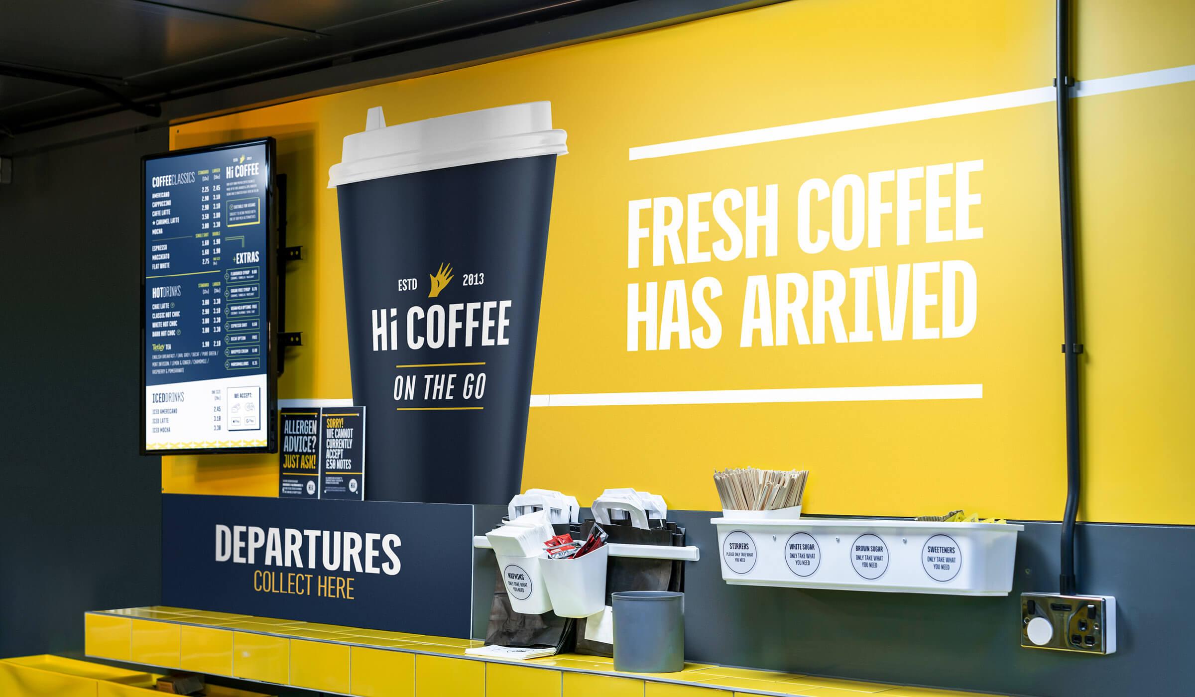 Hi Coffee store interior design