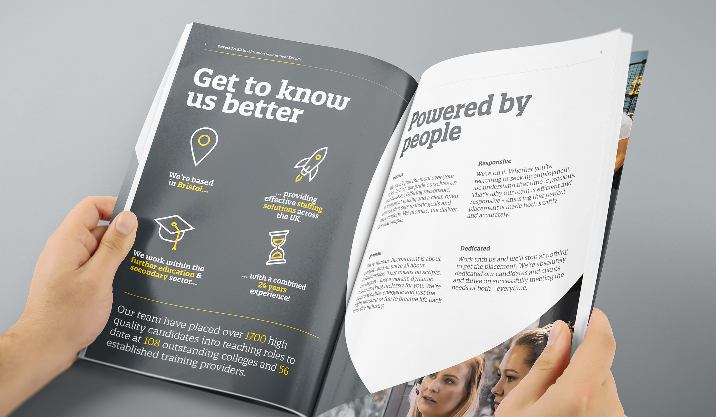 brochure design spread