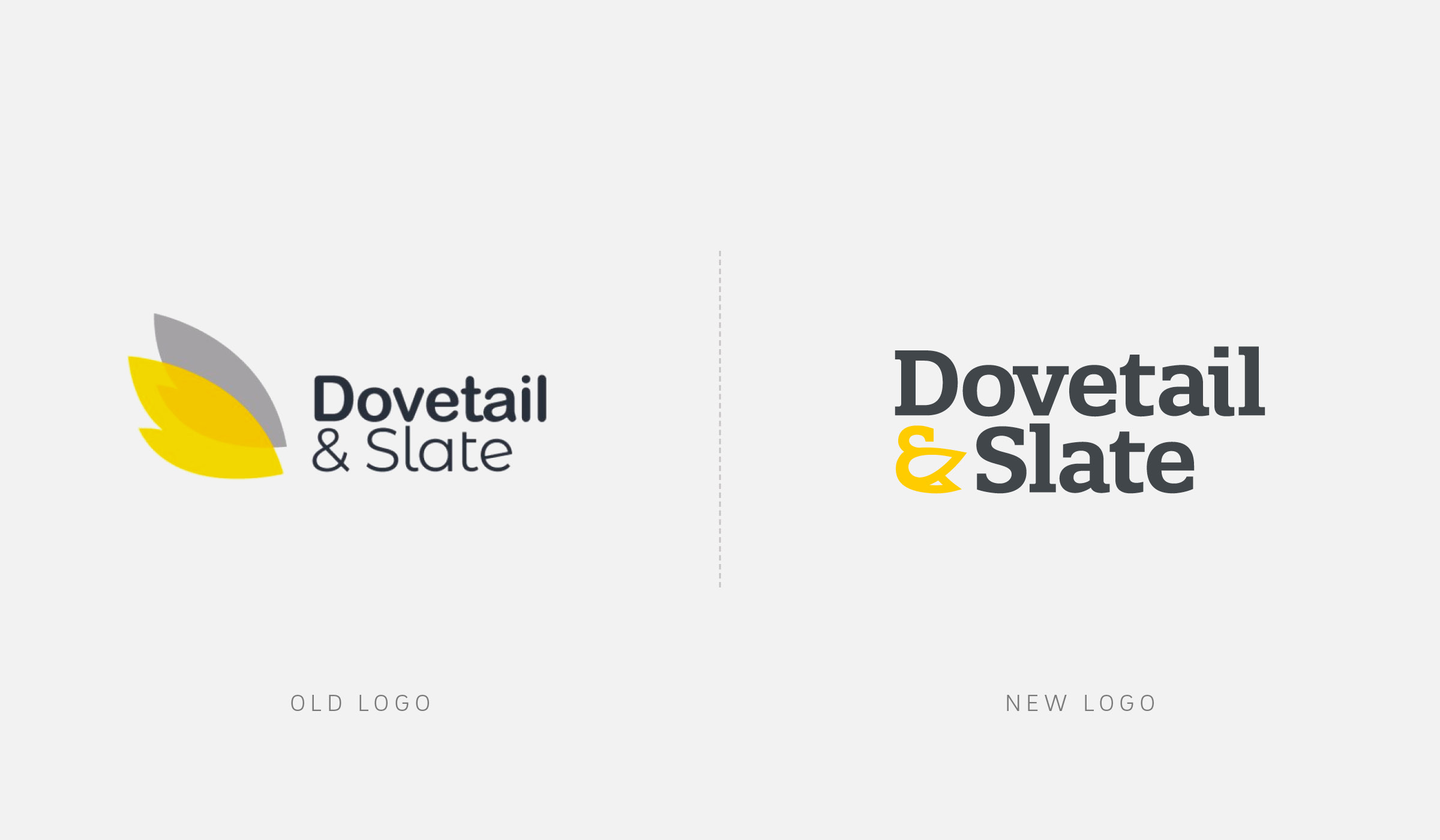 Logo design before/after