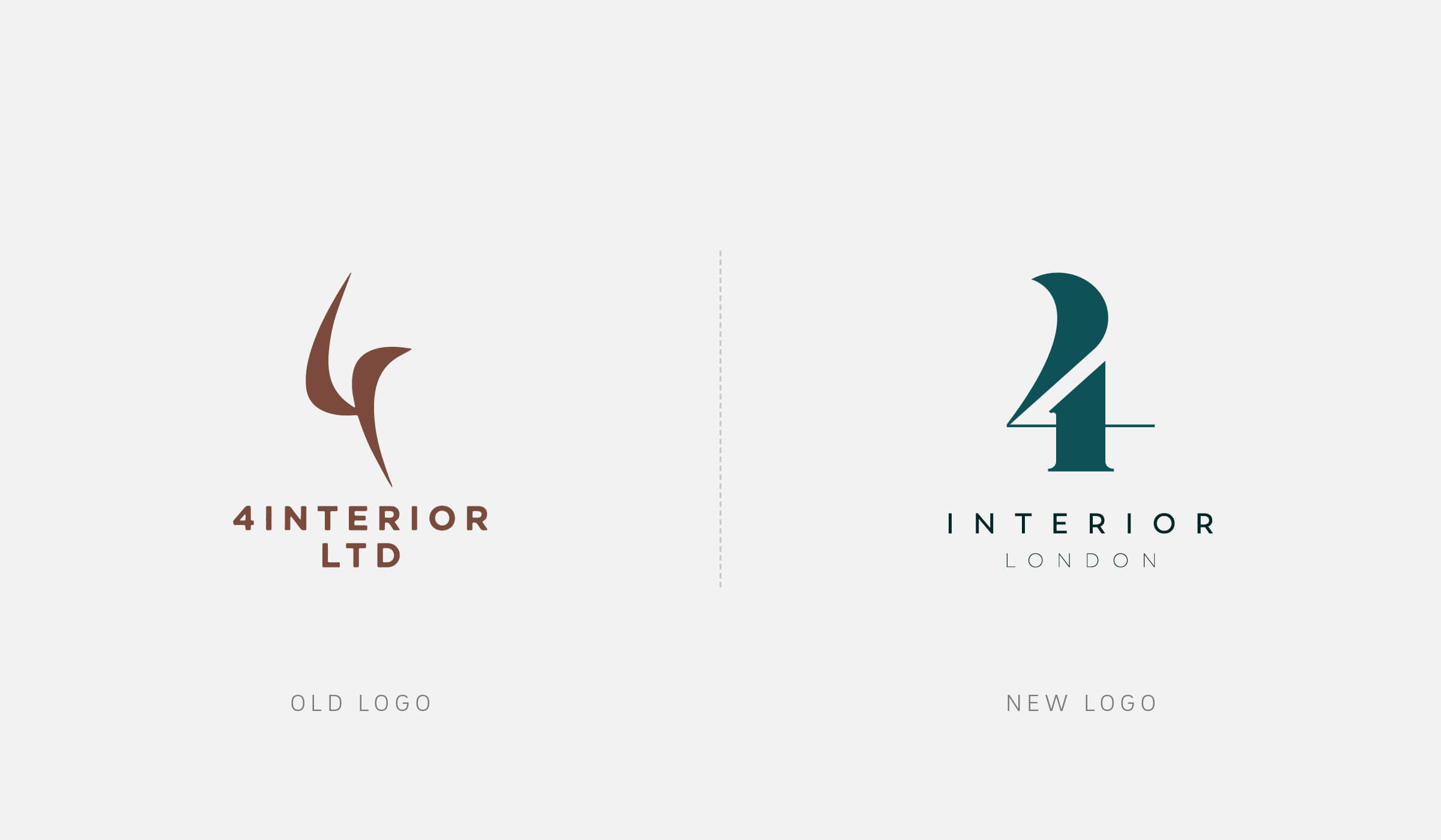 4interior logo design before/after
