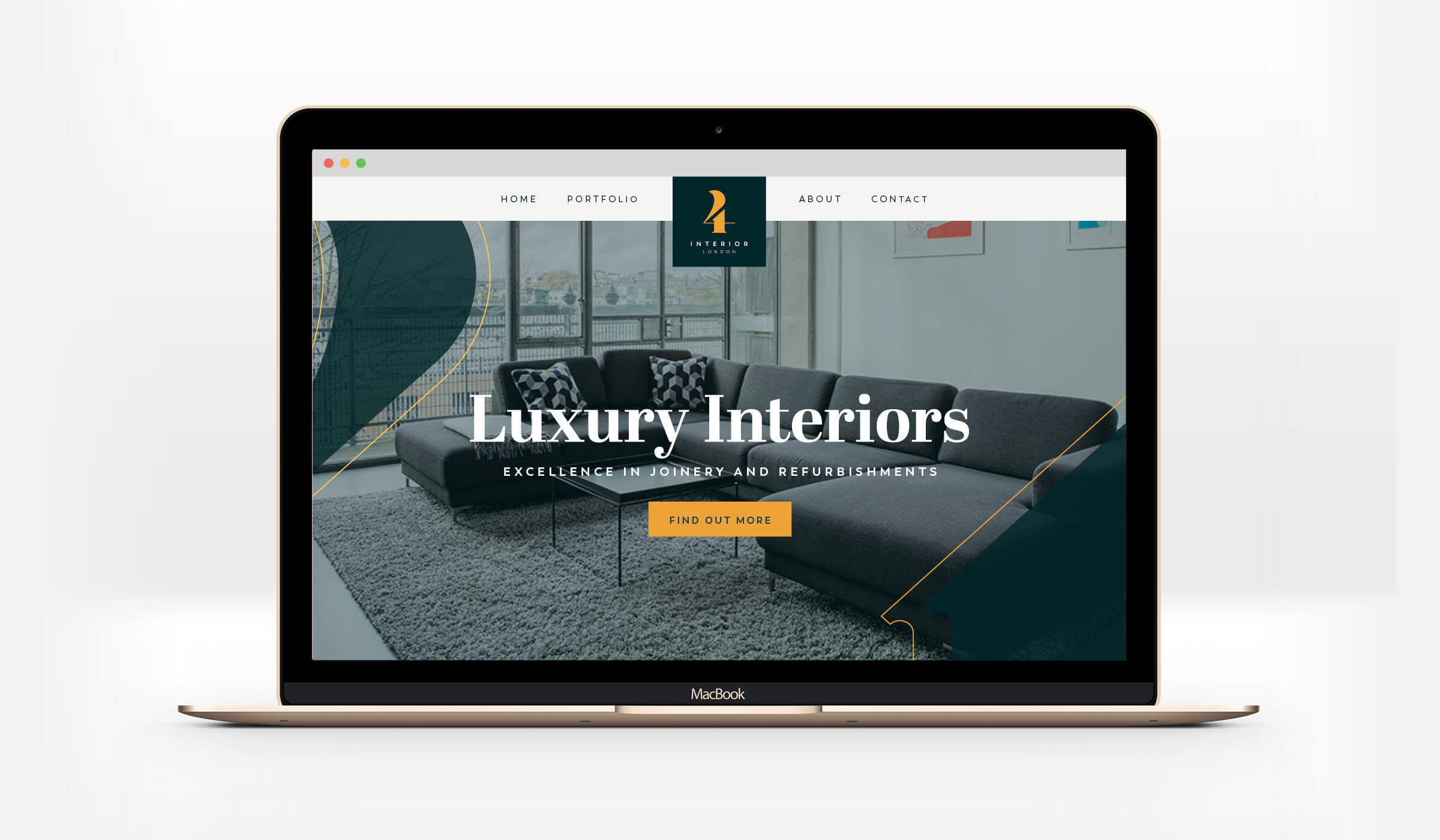 4interior website mockup
