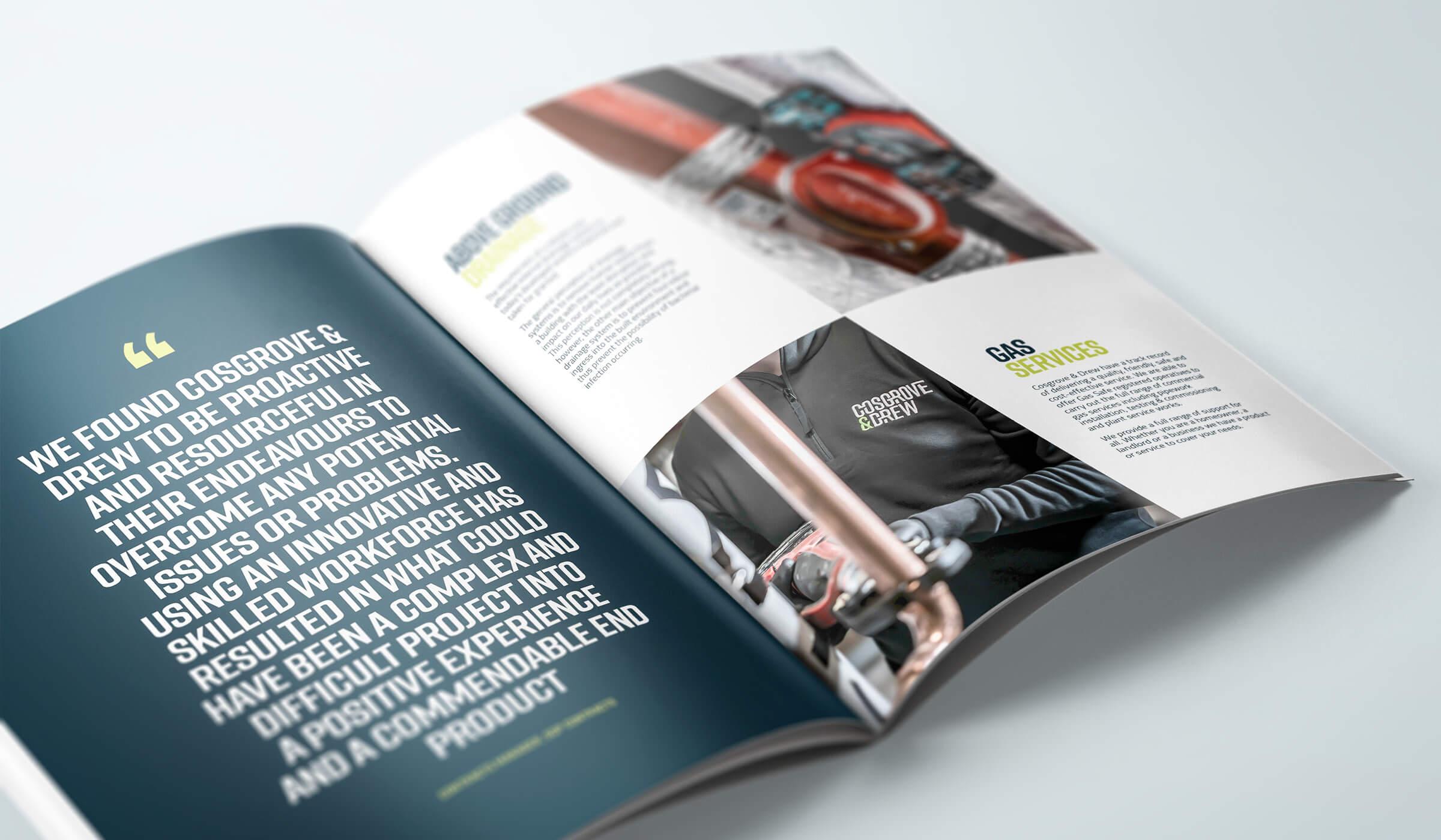 brochure design spread