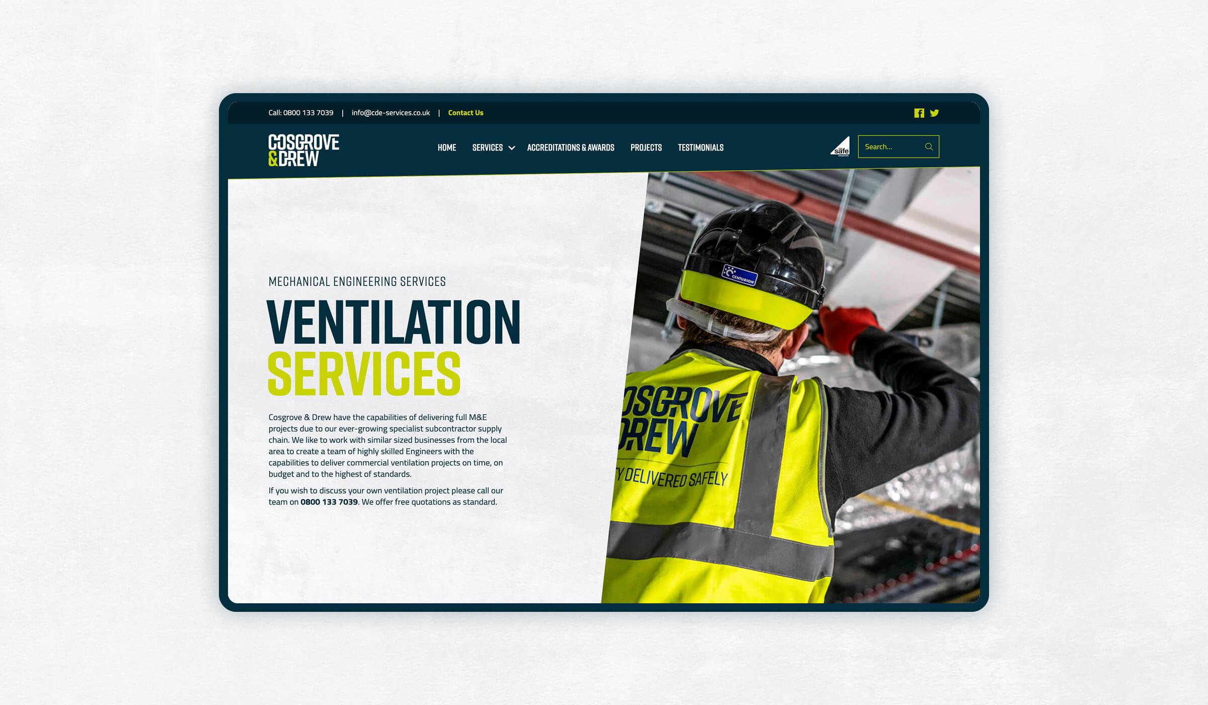 Website design visual