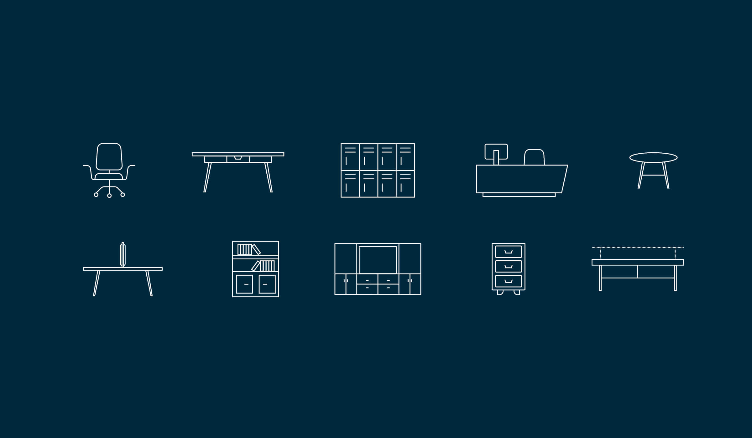 Randalls website furniture icons