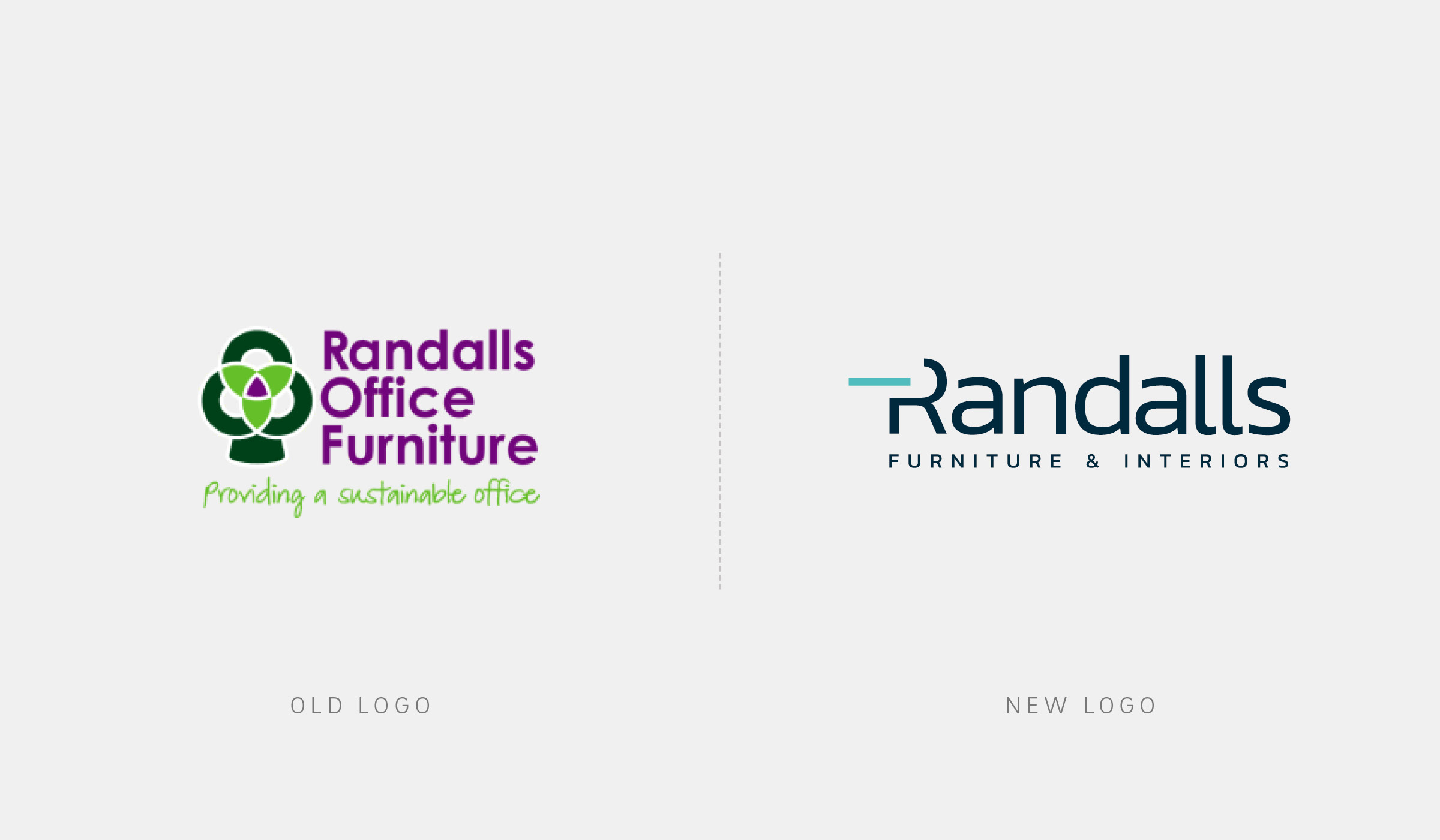 Randalls Logo before and after rebanding