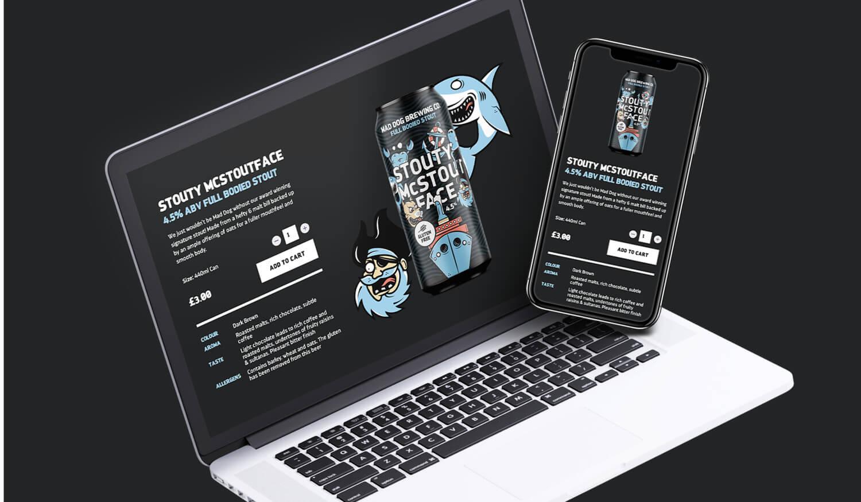 Mad Dog website homepage design