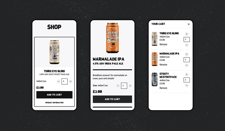Mad Dog responsive website visuals