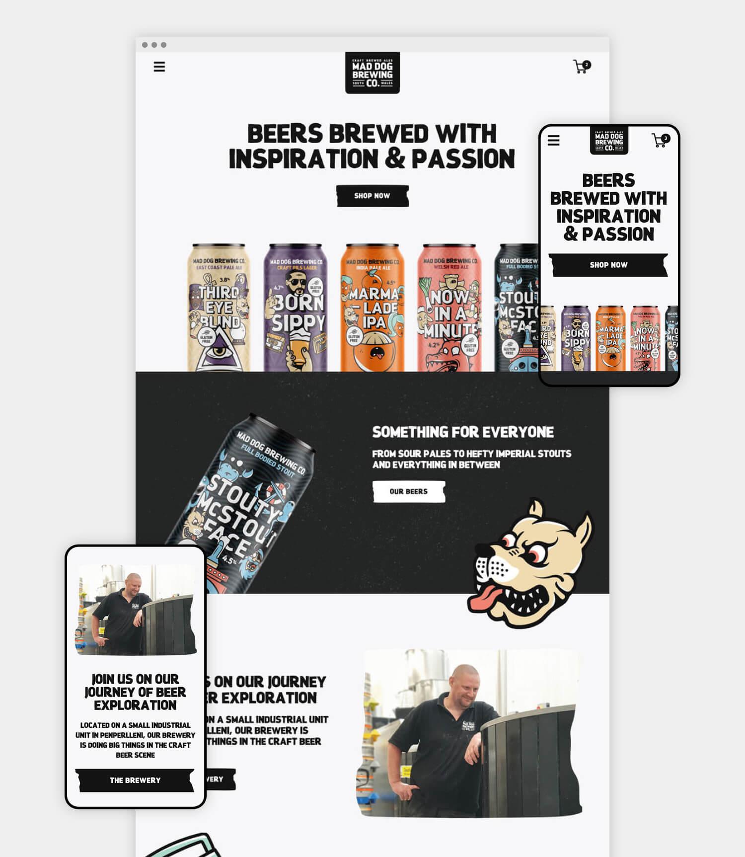 Mad Dog website design
