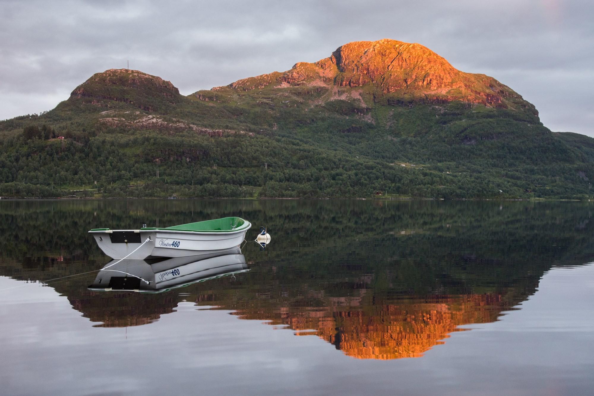 Picture of boat at Gullingen, Suldal