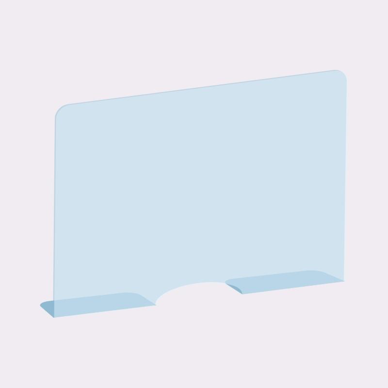 Perete plexiglas protector pentru casierii