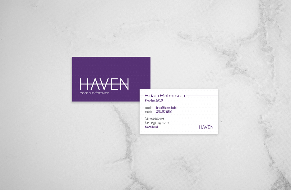 Haven Construction_Brand Identity_Business Cards