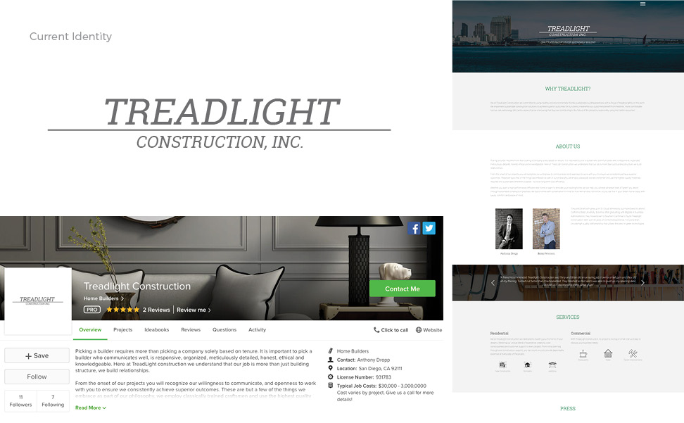 Treadlight Construction_Current Brand Identity