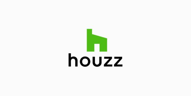 New Houzz logo, vertical lockup