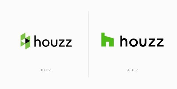 Old Houzz Logo and New Houzz Logo