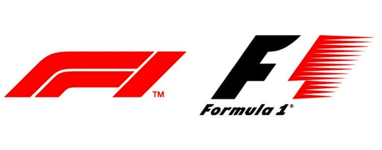 F1 New logo and old logo