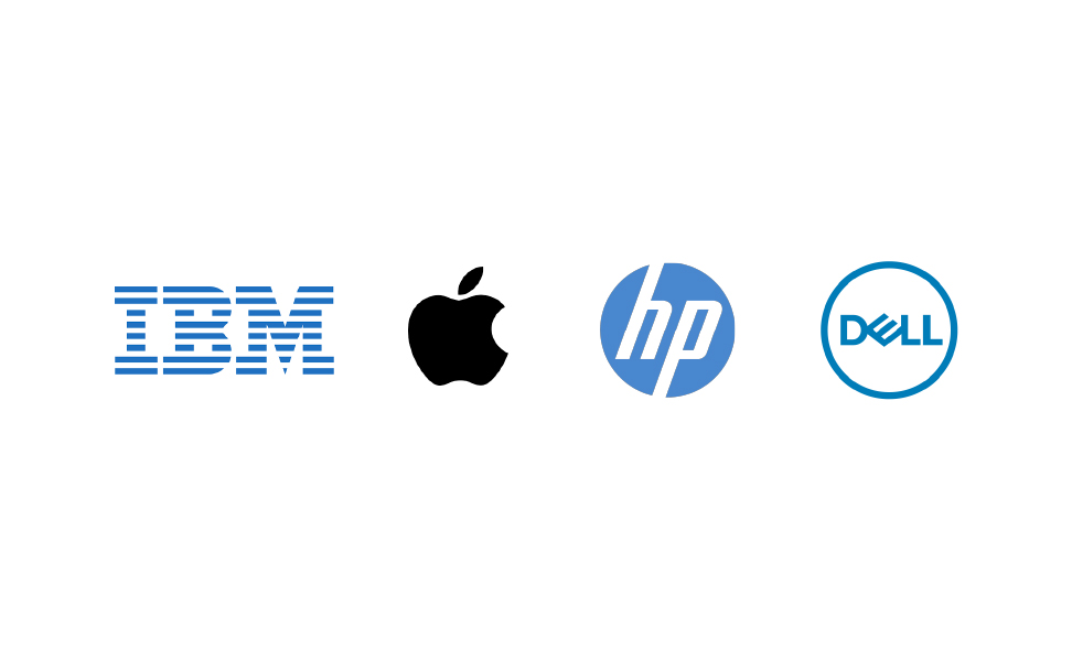 apple-logo-comparison-to-ibm-dell-and-hp